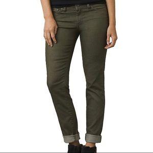 PrAna Olive Green Straight Leg Kara Kayla Jean 10